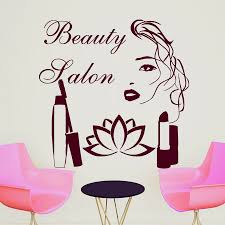Beauty Parlour Quotes Best of Wall Decal Quote Beauty Salon Make Up Girl Woman Decals Vinyl
