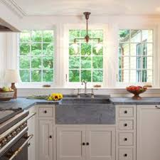 Over sink kitchen lighting Led Lighting Example Of Midsized Country Lshaped Medium Tone Wood Floor And Brown Houzz Window Over Kitchen Sink Houzz