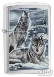 <b>Зажигалка ZIPPO</b> (Зиппо США). Zippo 28002 <b>Mazzi</b> Winter Wolves ...