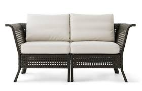 our kungsholmen sofas for outdoor use have a frame in black brown coated aluminium and
