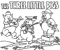 Collection Three Little Pigs Coloring Pages Disney Pictures