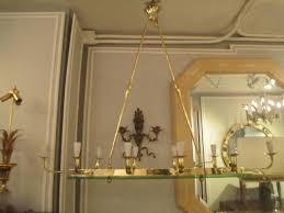 exquisite mid century modern ten light brass and glass chandelier