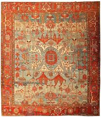 orange oriental rug light blue antique tribal rug orange and teal oriental rug