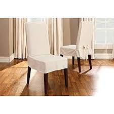 sure fit duck solid shorty dining room chair slipcover natural sf21079