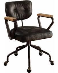 vintage office chairs for sale. Acme Hallie Executive Office Chair, Vintage Black Top Grain Leather Vintage Office Chairs For Sale E