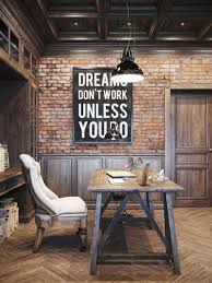 don39t love homeoffice. Brick Office Dreams Don T Work Unless You Do Industrial Chic Home Don39t Love Homeoffice F