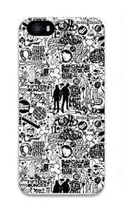 Amazon Iphone Se 5 5s ケース おしゃれ 漫画風 白黒 イラスト