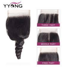 <b>Yyong</b> Brazilian Loose Wave 3 Human Hair Bundles With Lace ...
