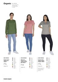 American Apparel T Shirt Color Chart Dreamworks