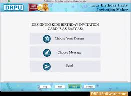 Free Kids Birthday Party Invitation Card Maker Software For Mac