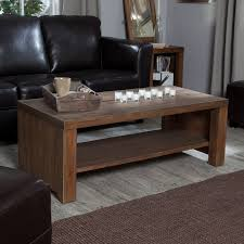 Rustic Wooden Coffee Tables Belham Living Brinfield Rustic Solid Wood Coffee Table With