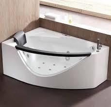 eago am198etl r 5 ft clear rounded right corner acrylic whirlpool bathtub