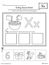From novice to master learners. Letter X Ending Sound Picture Match Worksheet Myteachingstation Com