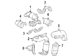 parts com� toyota sienna exhaust components oem parts toyota sienna exhaust system diagram at Sienna Exhaust Diagram