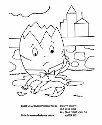 advice humpty dumpty coloring pages free