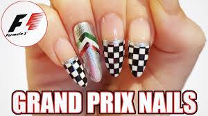 Nascar Nail Art Designs Diy F1 Grand Prix Nail Art