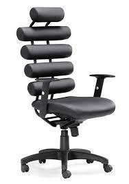 height black leather swivel desk chair