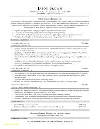 Electrical Technician Resume New Electrical Technician Resume