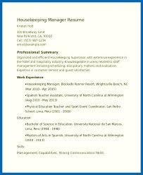 Housekeeping Resume Skills Housekeeping Supervisor Resume Sample Interesting Housekeeping Resume Skills
