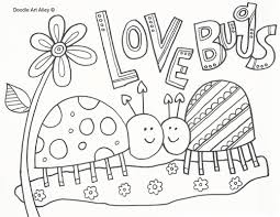 Small Picture Valentine Love Bug Coloring Pages For Kids Archives gobel