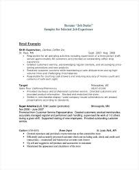 Retail Duties Resume Sales Associate Duties Resume Retail Sample ...