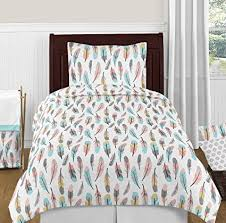 Amazon Sweet Jojo Designs 40Piece Feather Girls Kids Childrens Custom Teens Bedroom Designs Set Collection