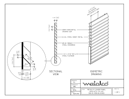 fence drawing. Grigliato_SC100_Louver-001-001 Fence Drawing