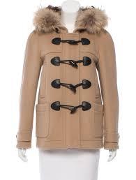 fur trimmed duffle coat