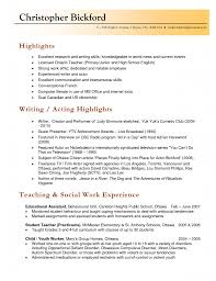 Music Resume Template Formidable Al Theatre Template Free