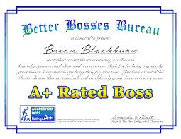bbb a certification award final bosses day bosss