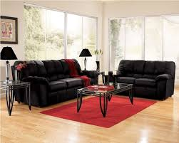 living room with black furniture. living room sets - · furniture cheap black puffy sofa with red carpet and light wooden floor white transparent window