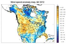 U S Winds Show Deviation From Long Term Average