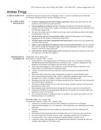 Objective For Retail Resume Resume Objective For Retail Thisisantler Examples Skills Sample 71