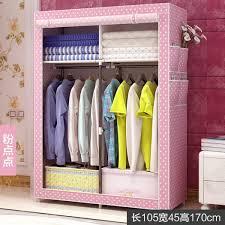 senarai simple wardrobe fabric steel frame assembly storage closet dustproof folding locker dormitory bedroom household cloth wardrobe terbaru di