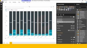 100 Column Chart How To Create 100 Stacked Column Chart In Power Bi Desktop In Telugu Part 9