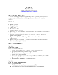 server resume objective resume badak hotel manager resume objective sample