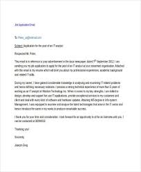 sample email for job application 6 application email examples samples examples