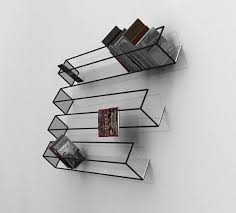 Optical illusion furniture that stands out in any dcor. Illusion book  shelf.