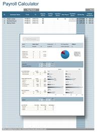 Monthly Paycheck Calculator Payroll Calculator Professional Payroll For Excel