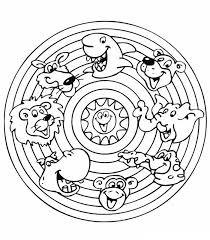 Kleurplaat Mandala Mandala Dieren Knutselen Mandala