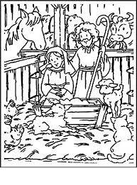 Nativity Coloring Pages Free Worksheet Fresh Simple Manger 1010