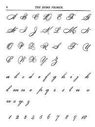Capital Letters In Cursive | gplusnick