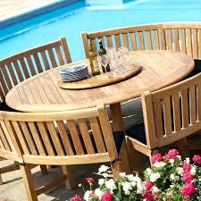round teak outdoor table teak furniture teak large round table image 1 teak table and chairs