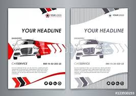 Service Car Business Card Template Auto Repair Brochure Templates