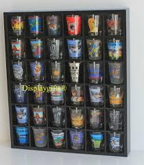 28 shot glass display case rack wall