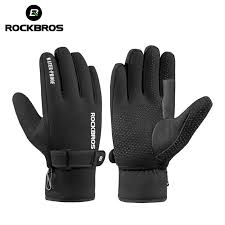 Ski Snowboard Cycling <b>Bicycle Gloves Winter</b> Warm Fleece Full ...