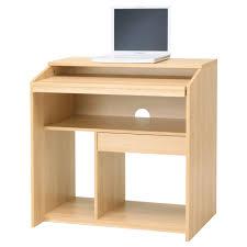 Furniture: Simple Wood Simple Computer Desk Design For Home Interior  Furniture Plus Ceiling Lighting