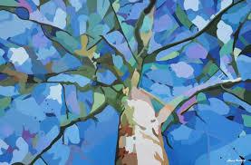 saatchi art artist nancy aurand humpf painting abstract tree art