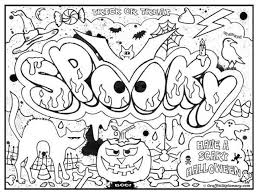 Printable Graffiti Challenging Coloring Page For Teenagers