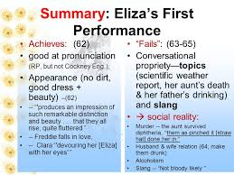 pyg on act iii ~act iv ppt  5 summary eliza s first performance